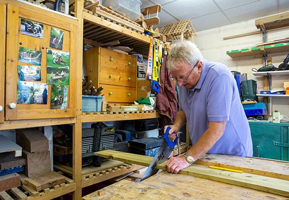 Woodworking at the Bridgend Centre Bollington