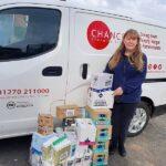 Chance Changing Lives van with volunteer