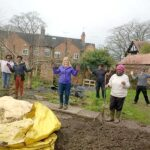 Allotment holders working together