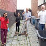 Alley clean up project volunteers - Crewe Clean Team